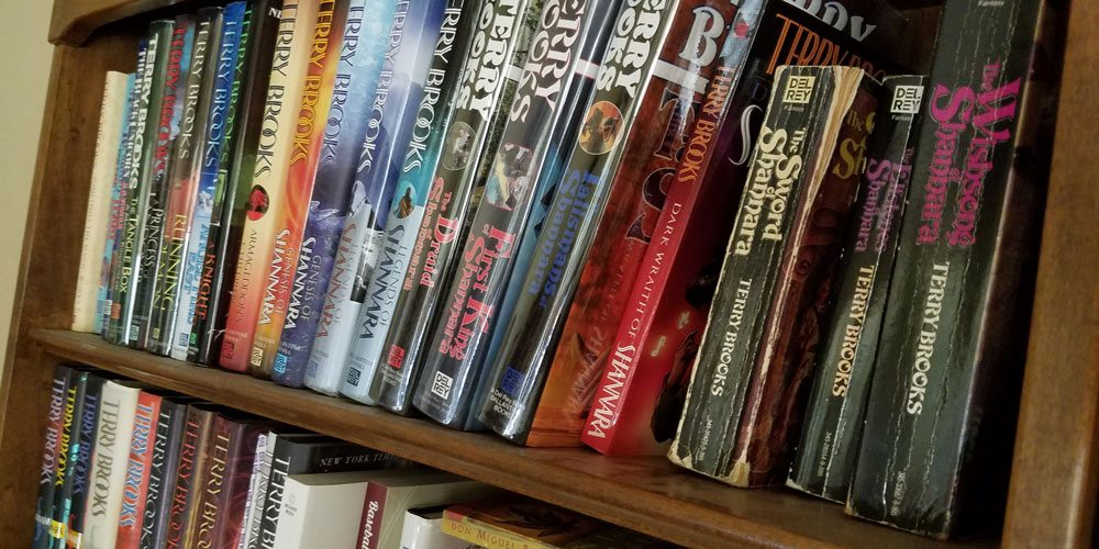 "Terry Brooks' ""Shannara"" novels. Image by Rob Huddleston"