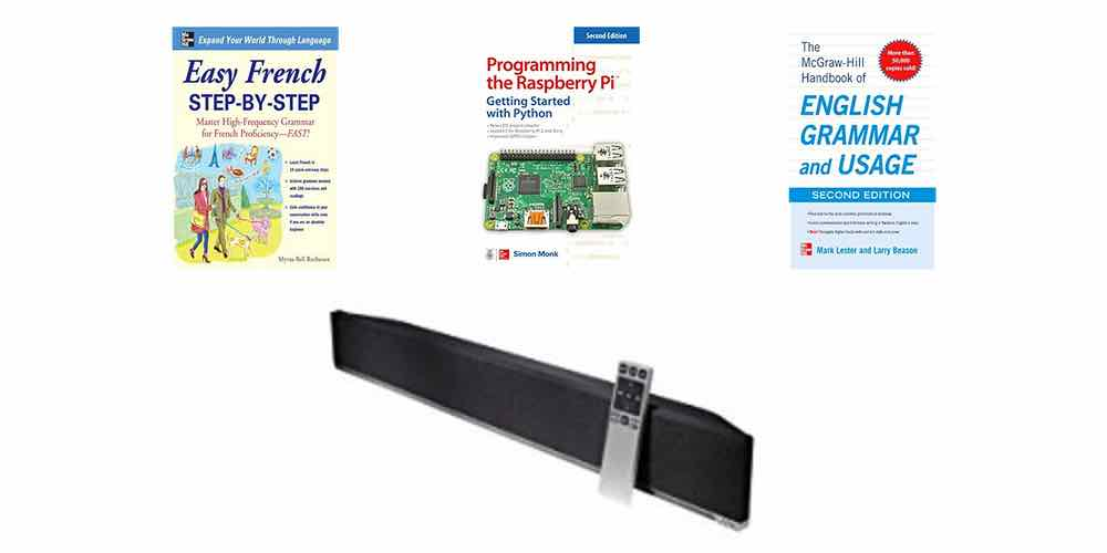 Daily Deals: eTextbooks on Raspberry Pi, Languages, and More; Vizio Sound Bar for Cheap!