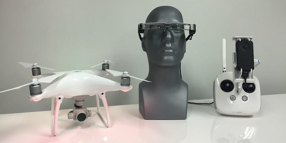 DJI Drone and Epson Moverio Smart Glasses