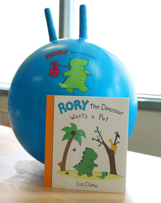 Rory the dinosaur ball