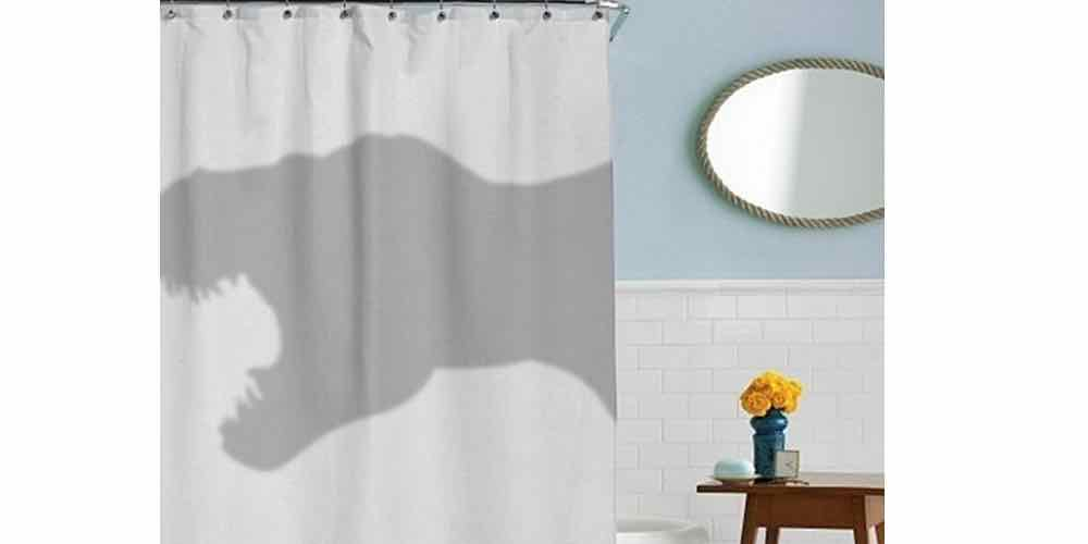 GeekDad Daily Deal: T-Rex Shower Curtain