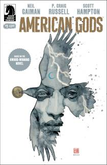 American Gods #1 variant cover by David Mack, copyright Dark Horse Comics