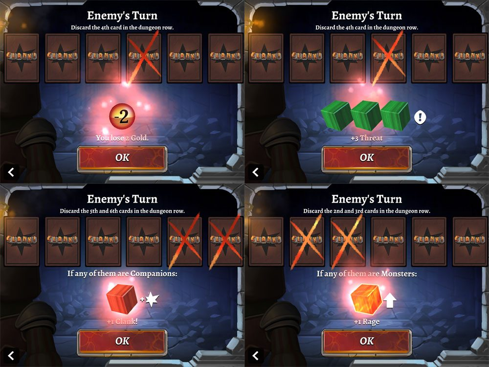 Clank app enemy turn