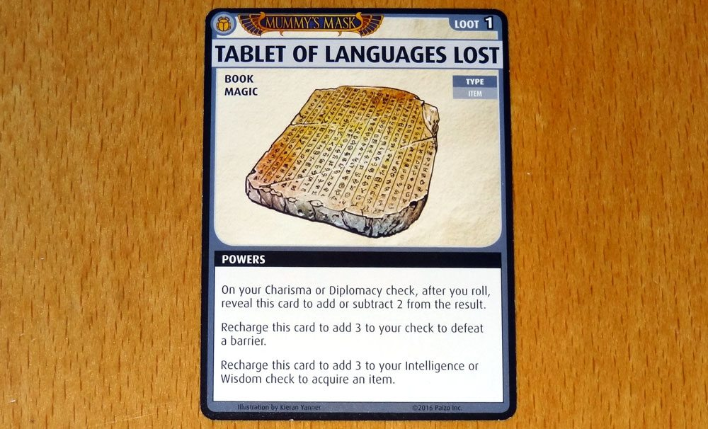 PACG Mummy's Mask Tablet of Languages Lost