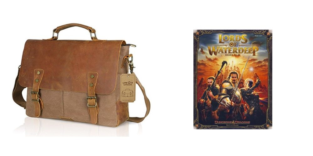 Save on a Nice Leather/Canvas Laptop Bag, Get the D&D Boardgame 'Lords of Waterdeep' – Daily Deals!