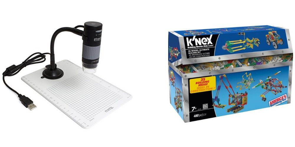 Save on a USB Microscope; Get a Big Box of K'Nex for Building Fun – Daily Deals!