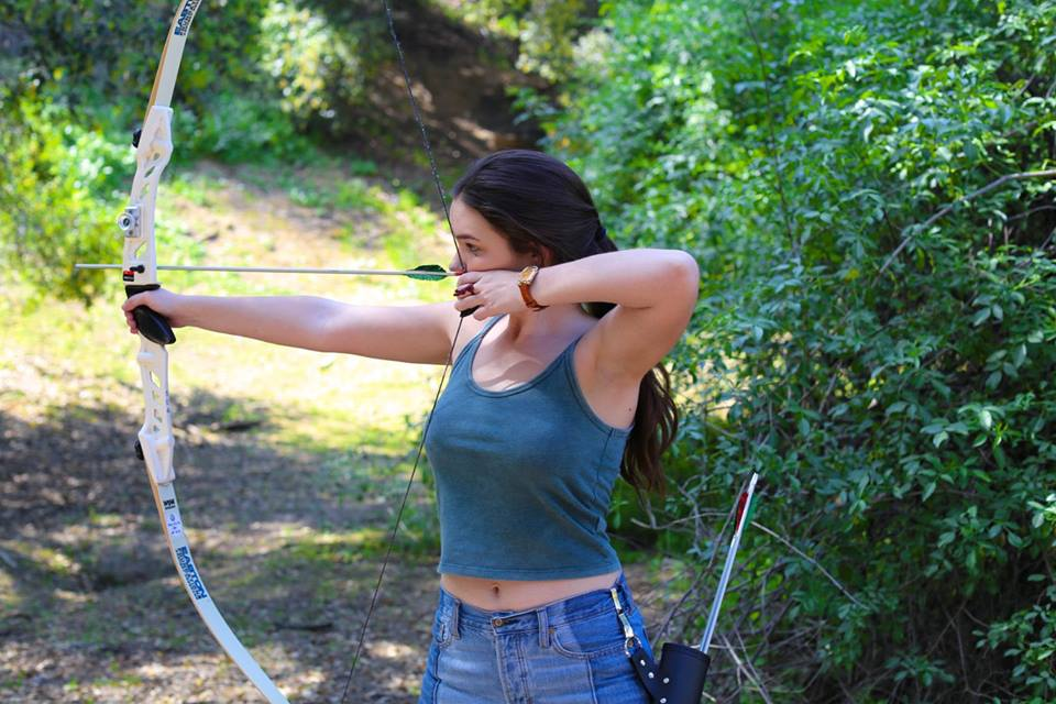 Madison practicing her archery.