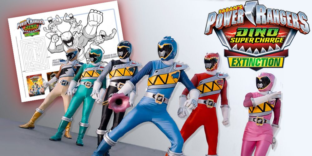 Download a Free Activity Sheet for 'Power Rangers Dino Super Charge: Extinction' – Now On DVD!