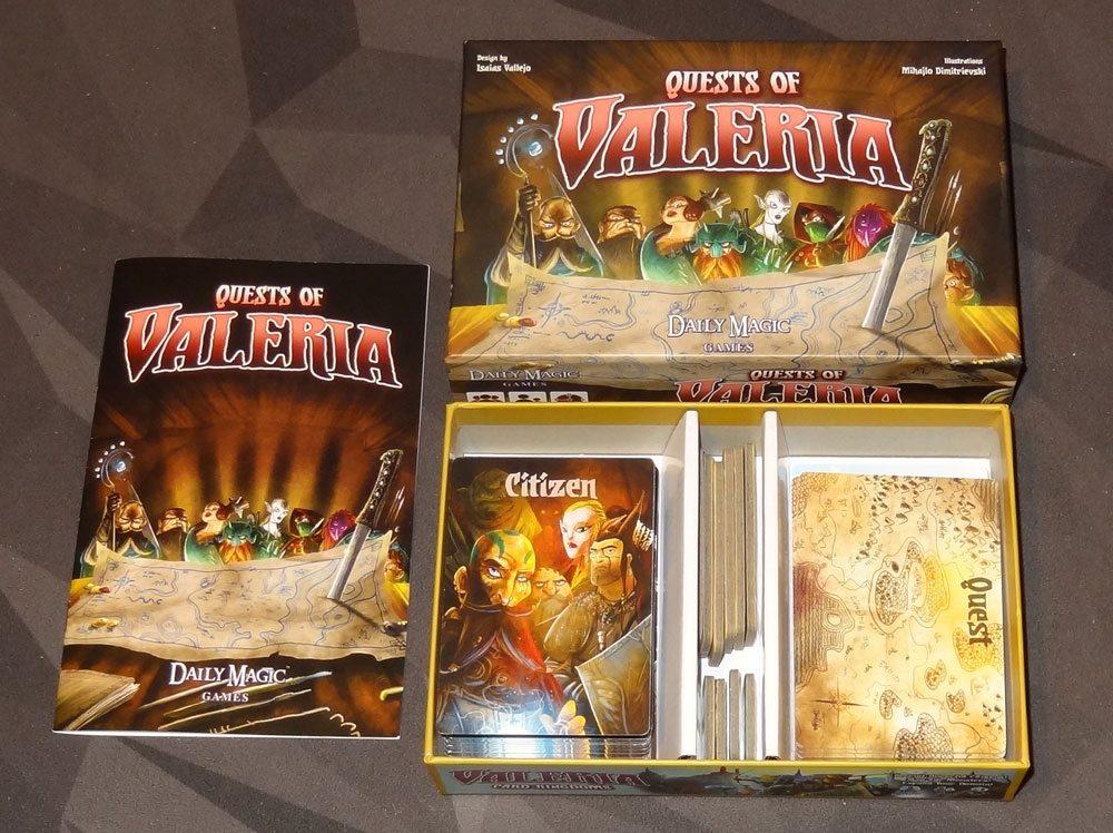 Quests of Valeria box
