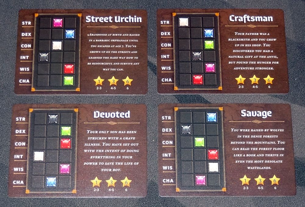 Roll Player Backstory cards