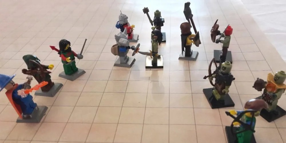 Dungeons & Dragons LEGO battle