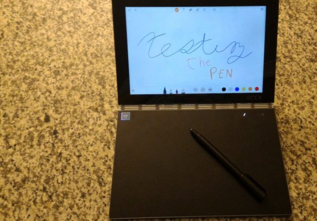 Review Lenovo Yogabook Android Edition Entices And Excites Geekdad