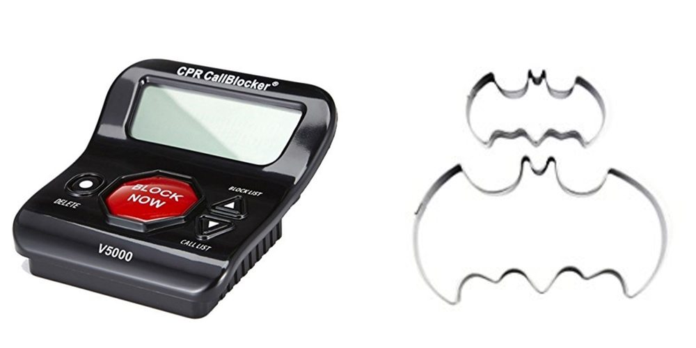 Save Big on a Land Line Call Blocker, Bake Some Batman Cookies – Daily Deals!