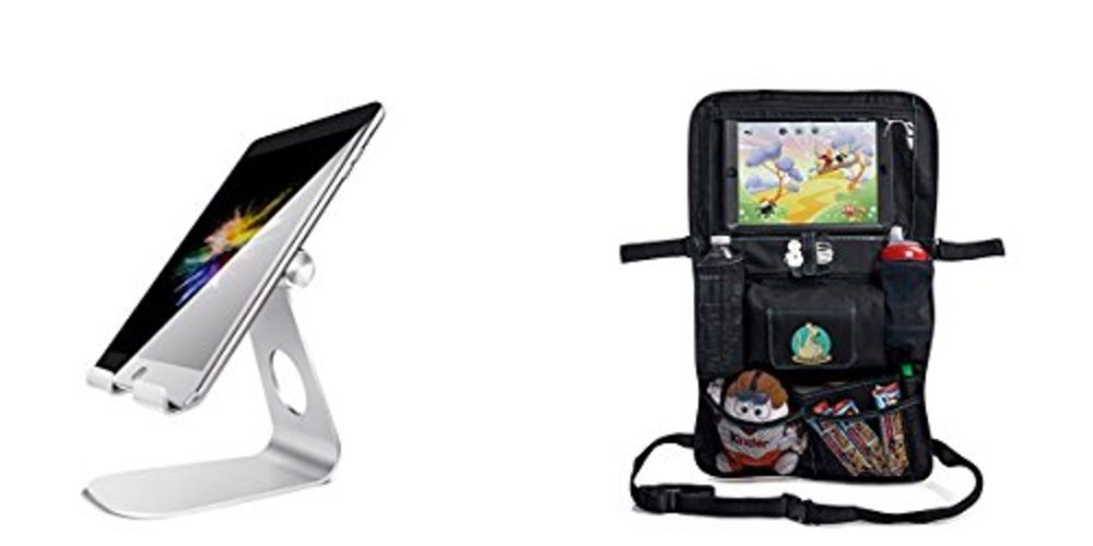 Get a Desktop Tablet Stand for $15; Organize Your Kids' Backseat Gear – Daily Deals!