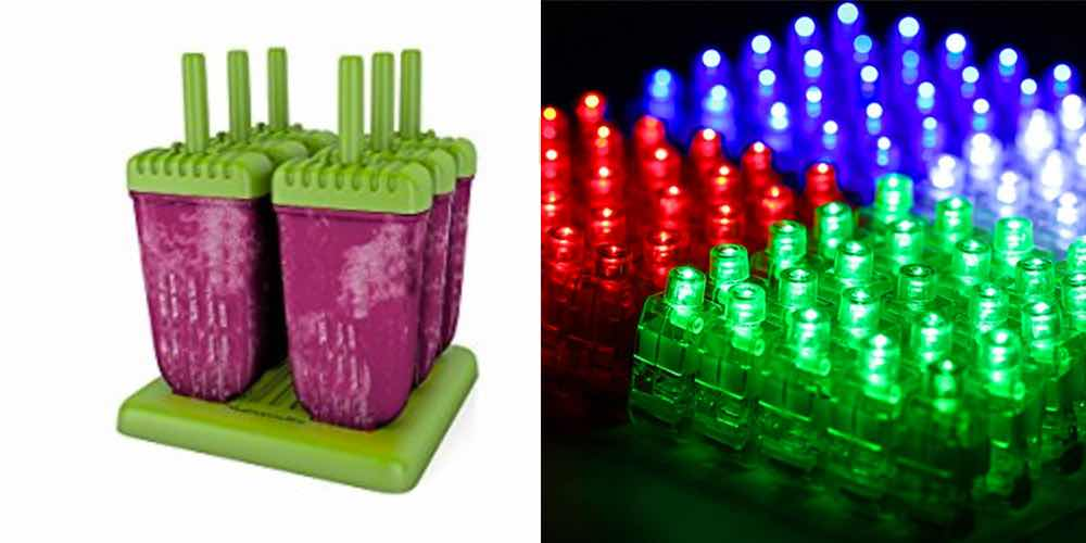 Get Popsicle Molds for $12; Or $15 for 100 LED Finger Lights for Nighttime Fun – Daily Deals!