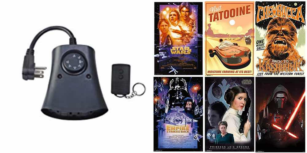 Get a 3-Outlet Outdoor Timer/Remote for $12; Amazing Selection of 'Star Wars' Posters $6 and Up; Daily Deals!