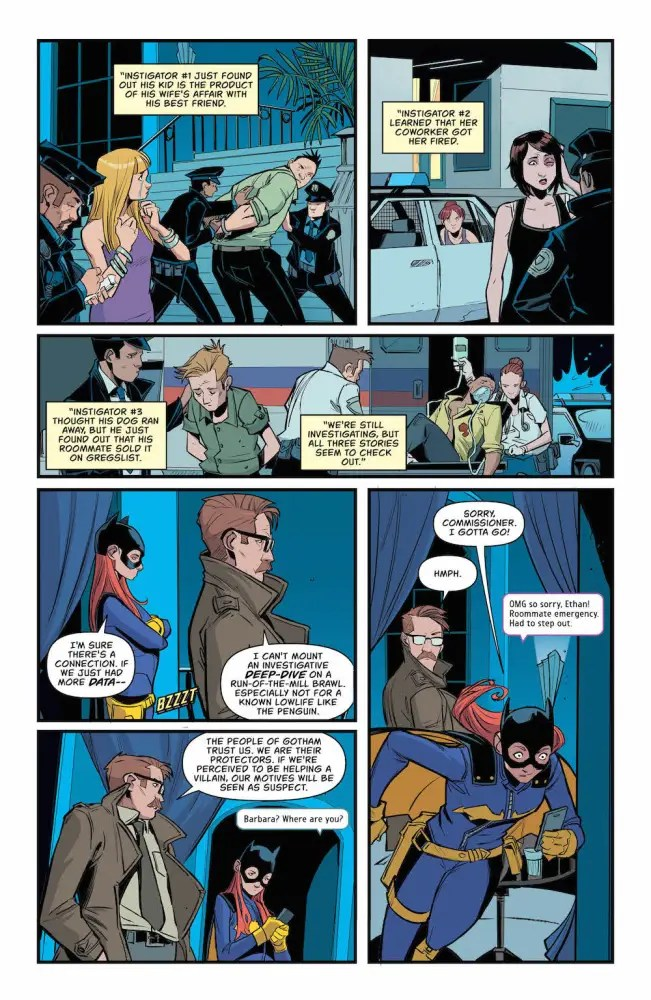 Batgirl, Jim Gordon, Penguin, in Batgirl #10, 2017