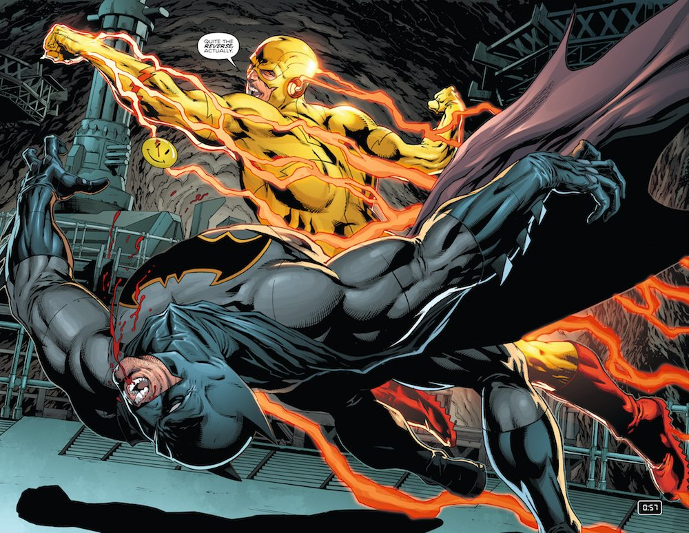 Batman and Reverse Flash in Batman #21, the Button