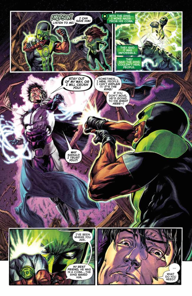 Green Lanterns #21, Simon Baz, Jessica Cruz and Doctor Polaris