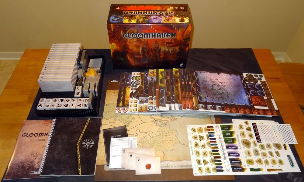 Gloomhaven components