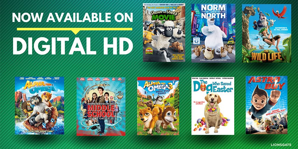 Family-Friendly Digital Movies Giveaway From Lionsgate