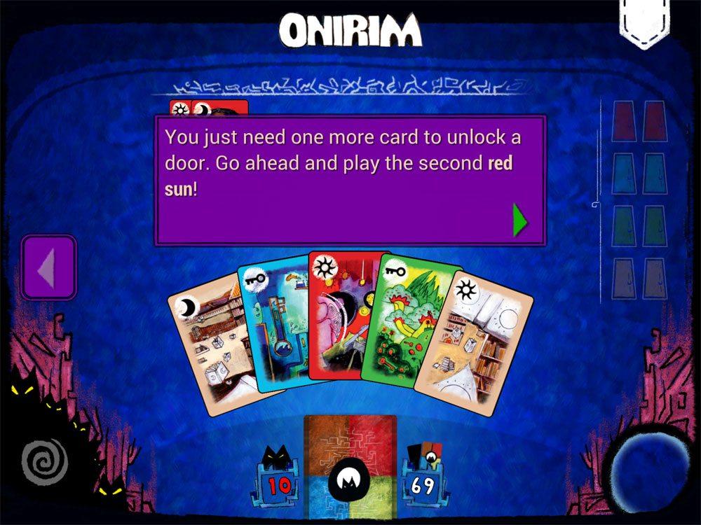 Onirim app Tutorial
