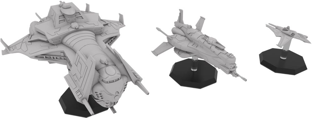 Starfinder ship miniatures