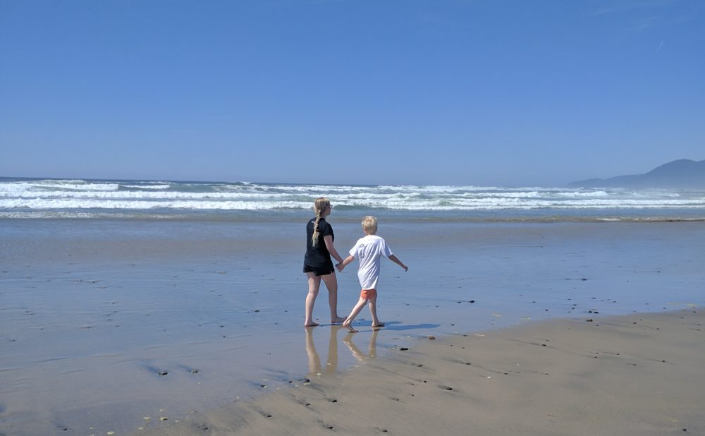 My family at the beach