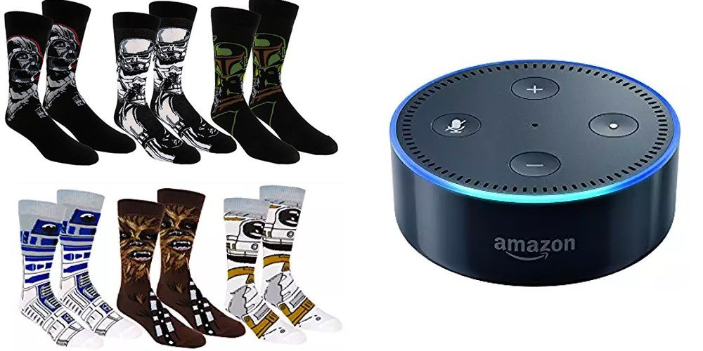 Daily Deals on Awesome 'Star Wars' Crew Socks; Refurbished Echo Dot for $38!