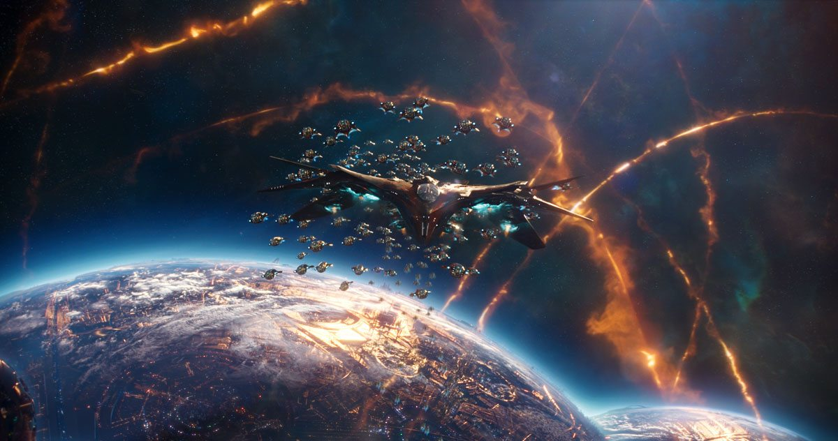 Milano in a space battle, Guardians of the Galaxy Vol. 2