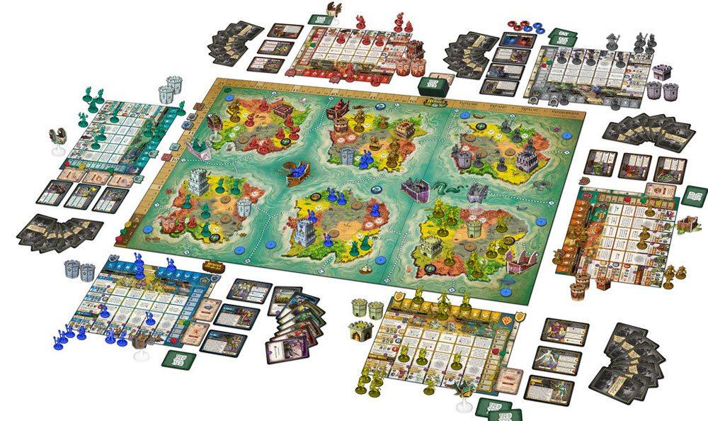 Heroes of Land, Air & Sea 6-player setup