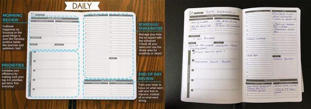 Panda Planner daily page layout  Image: Dakster Sullivan