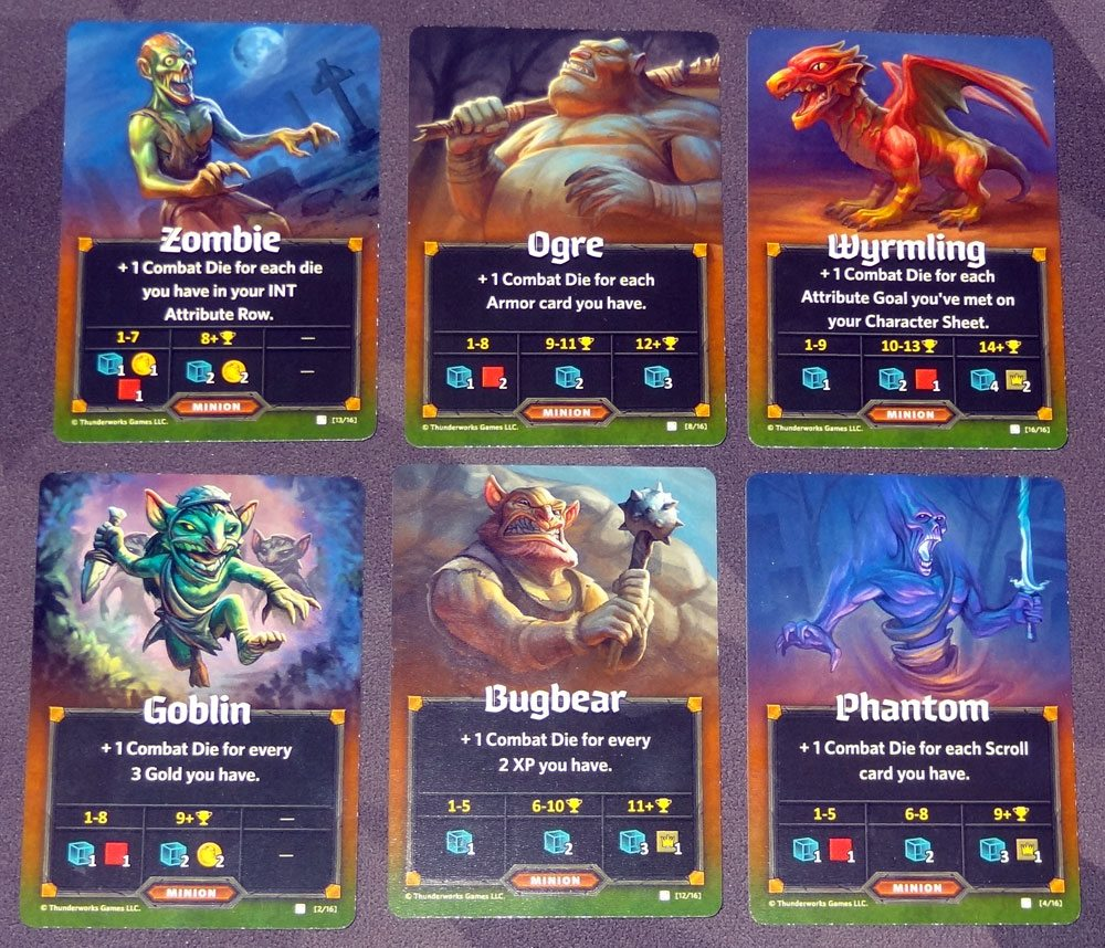 Roll Player: Monsters & Minions minion cards