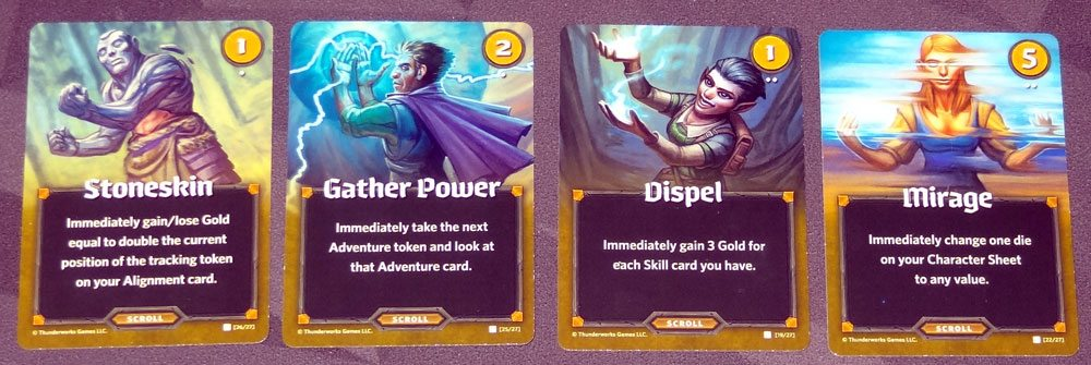 Roll Player: Monsters & Minions scroll cards