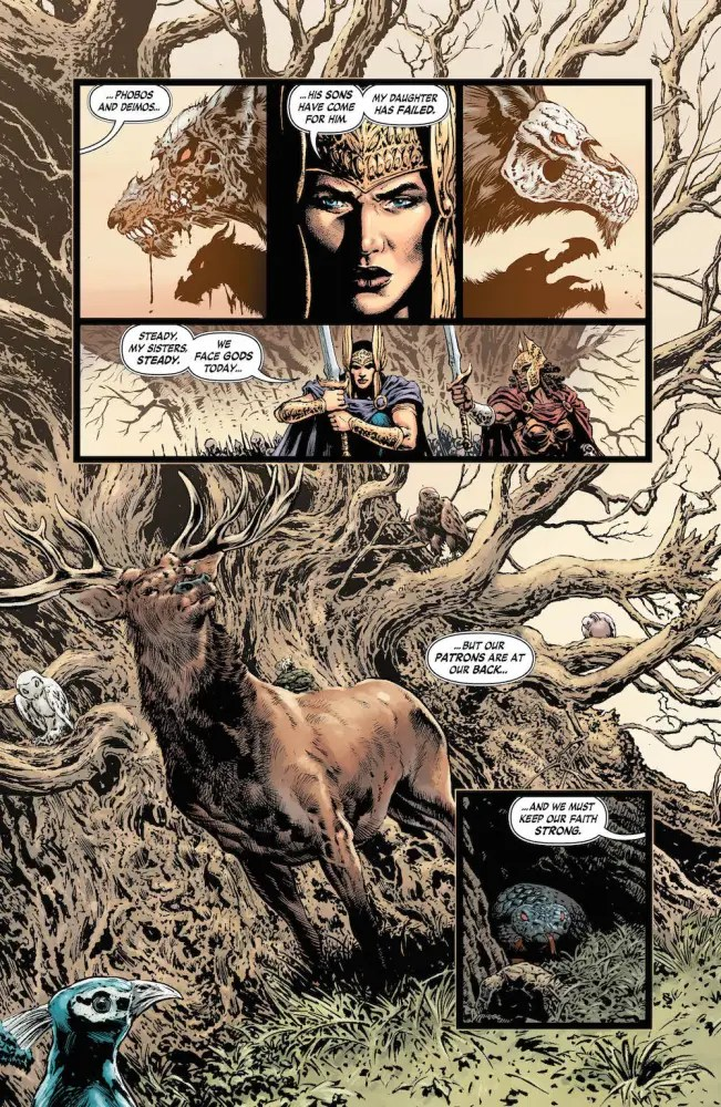 Wonder Woman #23, story by Greg Rucka, art by Liam Sharp
