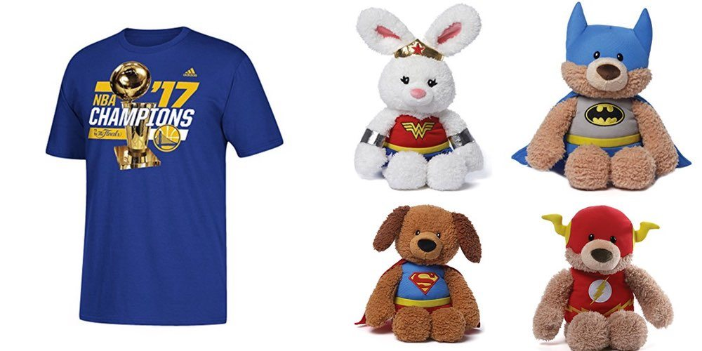 Daily Deals on NBA Champion Warriors Gear; See These Amazing DC Superheroes Plushies!
