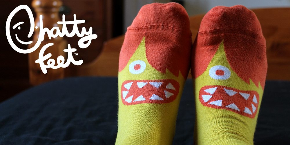 Chatty Feet Header, Image: Sophie Brown, Logo, Image: Chatty Feet