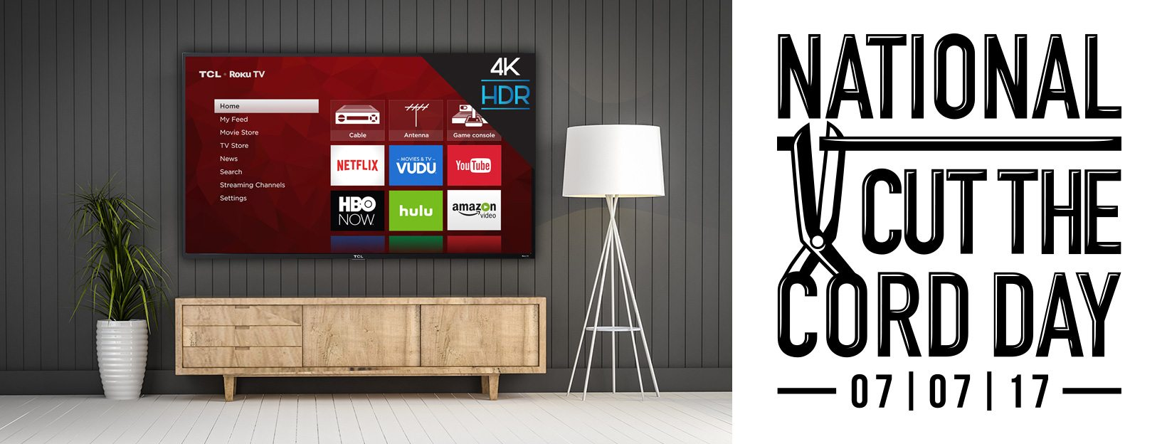 Giveaway: Cut the Cord With TCL & Winegard and Win a 55″ TV