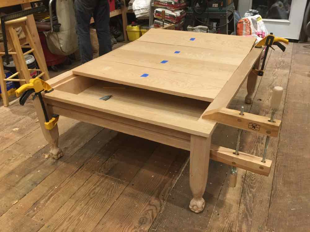 Working the vault cover boards & Geek Chic Gone? Build Your Own Gaming Table! - GeekDad