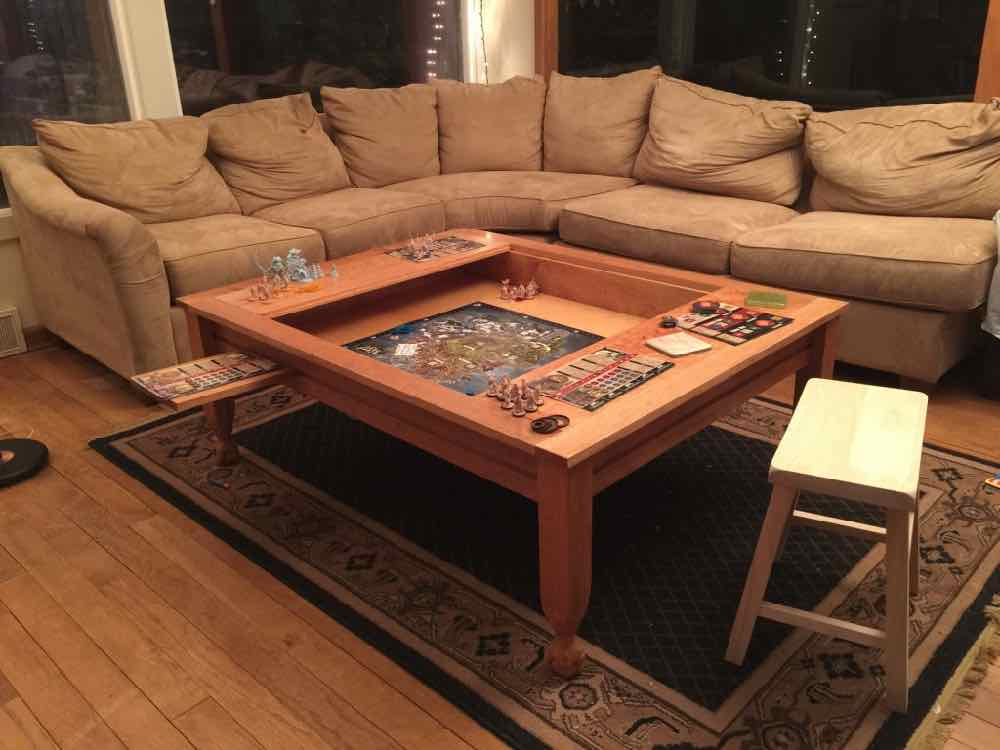 Geek chic gone build your own gaming table geekdad for Table design 70