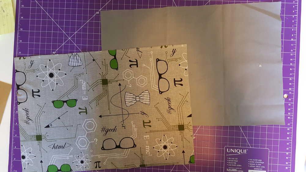 Midori insert cover Step 3: Iron the fabric.