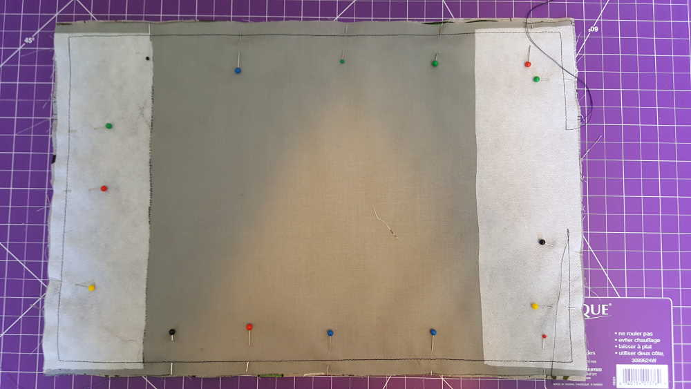 Midori insert cover Step 6: Sew the outside edge with a 1 cm seam allowance.