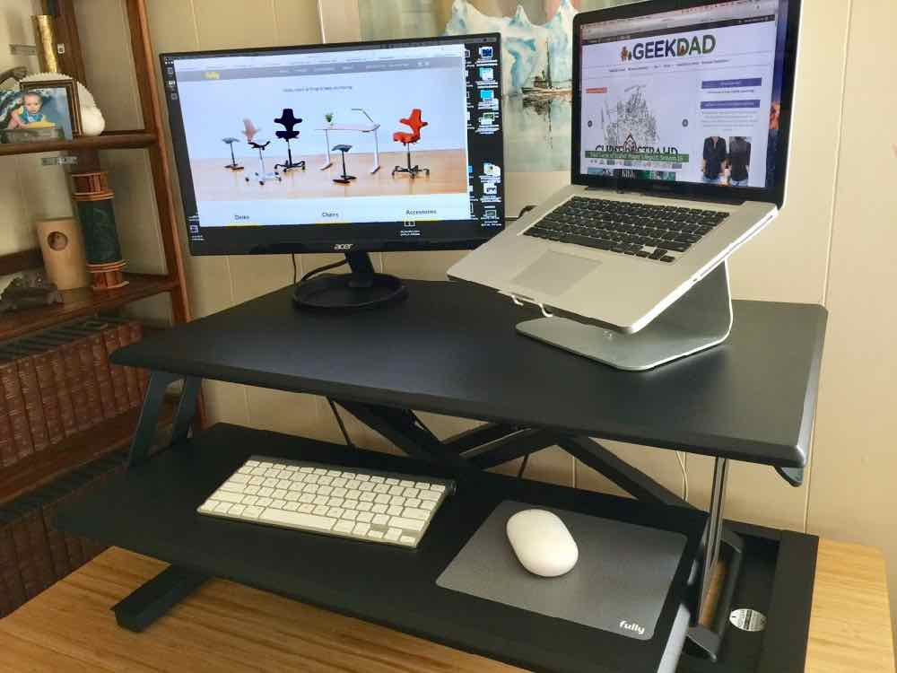 How to Up Your Work Game With Fully's Cooper Standing Desk Converter