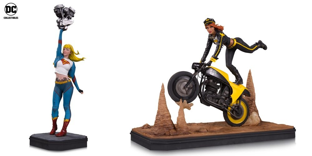 SDCC 2017: DC Collectibles Reveals Gotham City Garage Supergirl and Batgirl