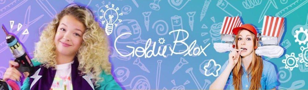 GoldieBlox YouTube channels banner