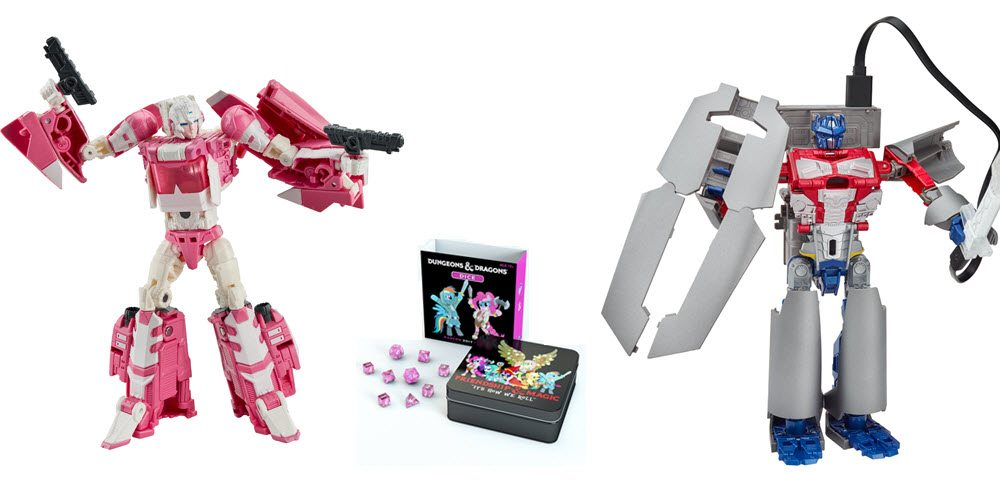 HASCON Exclusives Include Titans Return Arcee, My Little Pony 'D&D' Dice, and More