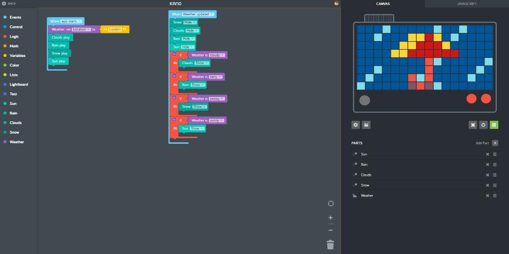 Kano app coding