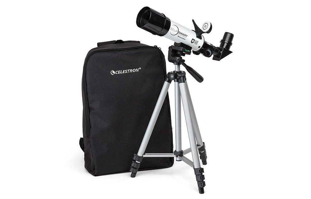 Smart Solar Eclipse Viewing: The Celestron EclipSmart Travel Scope 50