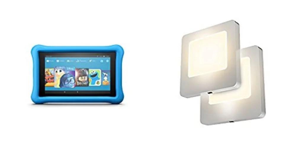 Geek Daily Deals kids kindle fire tablets 2-pack led nightlights