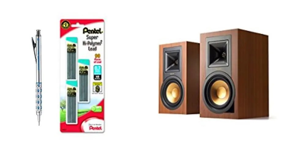 Geek Daily Deals mechanical pencil klipsch speakers